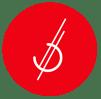 White_brandmark_red_circle